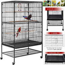 """53"""" Large Rolling Bird Cage Parakeet Finch Budgie Conure Lovebird Parrots House"""