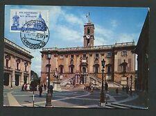 ITALIA MK 1959 PIAZZA CAMPIDOGLIO MAXIMUMKARTE CARTE MAXIMUM CARD MC CM c9815