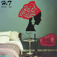 African Woman Silhouette Tribal Vinyl Wall Art Stickers Decal Mural Girl Rooms
