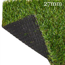 CLEARANCE 27mm Artificial Grass Realistic Fake Lawn Astro Turf Natural Green UK
