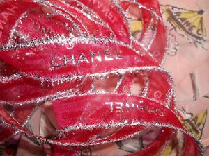 Ruban rouge CHANEL largeur 2cm (en continu)