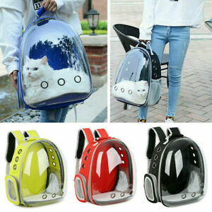 Pet Portable Carrier Backpack Space Capsule Travel Dog Cat Bag Transparent US