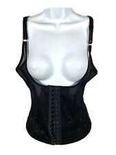 Bustier Corset Size XXL Adjustable Straps Hook and Eye Floral Embroidered