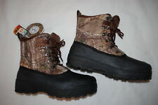 Mens OZARK TRAIL CAMOUFLAGE WINTER BOOTS Insulated COLD WEATHER -5 DEGREE Sz 8