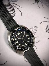 Captain Willard 6105 turtle Watch Mod Sapphire Seiko NH35 Automatic Extra Strap