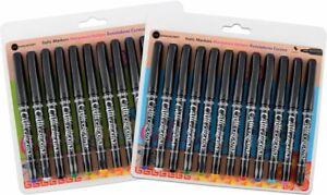 Manuscript Callicreative Italic Marker Pens | 12 Assorted | Broad or Fine