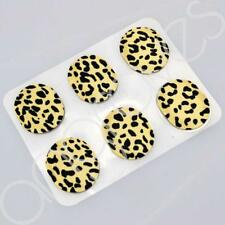 Leopard Print Set of 6 Silicone Shoe Blister Pad Gel Dots Foot Pressure Relief