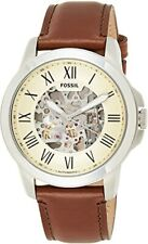 Fossil Grant Automatic Beige Skeleton Dial Men's Watch - ME3099