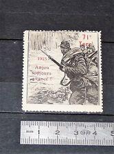 DELANDRE CINDERELLA 1915 TIMBRE VIGNETTE GUERRE 14-18 71e TERRITORIAL ANJOU WWI