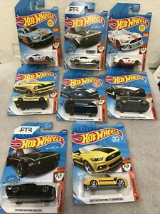 Lot of 8/2017 Hot Wheels muscle Mania Mustangs NOS see photos (F33)