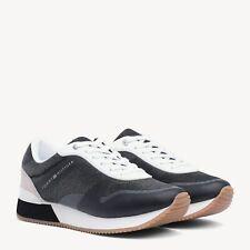 TOMMY HILFIGER - Sneakers SCARPE DONNA sportive estate nero zeppa OUTLET 37