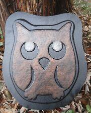 Owl tree plaque mold concrete plaster abs plastic mould