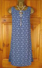 Viscose Boat Neck Floral Sleeveless Dresses for Women