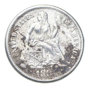Full Liberty - 1880s Seated Liberty Silver Dime *282