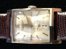 Vintage Men's LONGINES 14K Solid Gold, Manual Wind, Silver Dial,Faceted Crystal