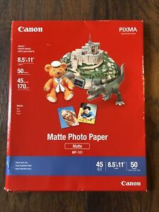 Canon Matte Photo Paper MP-101 50 Sheets 8.5 X 11 45lbs