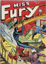 Miss Fury #1 Photocopy Comic Book, Black and White Reprint Interior