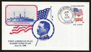 USA Local Guam Guard Mail CHARLESTON Ship and Flag Cover JUN.21.1978 cancel VF