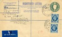 GB 1946 superb British 3d Fieldpost-Postal Stationery Registered Env POLISH UNIT