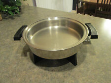 "WEBALCO Stainless Steel 11"" ELECTRIC SKILLET BASE Model 17209 Great Condition"