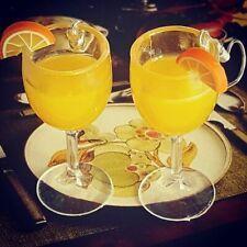 Unique ORANGE JUICE EARRINGS glass DRINK miniature GLASSES fruit CUTE citrus