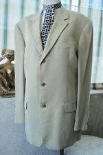 VINTAGE 1970's ALFANI Mens OYSTER KHAKI Tencel SUIT Jacket 42L Slacks 36L