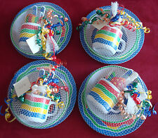 4 Nwt outdoor dish/drink/utensil sets from Pier One, Fish Theme, orig $80