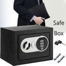 Safe Box Bank Steel Money Case w/ Keys & Password Lock Coins Cash Home Security