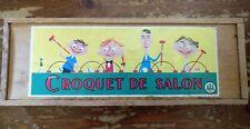 Vintage croquet game, in wooden box