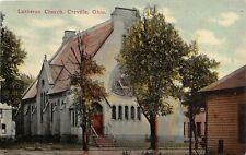 G14/ Orrville Ohio Postcard c1910 Lutheran Church Building