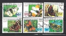 Papillons Bénin (26) série complète de 6 timbres oblitérés