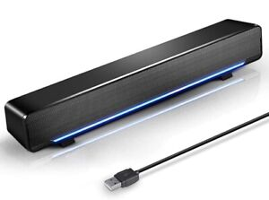 USB Powered Sound Bar Speaker With LED Light