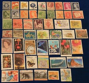 Australia 50 different used stamps
