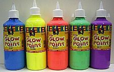 5 x EC Glow Paint Fluro Acrylic Paints 500ml