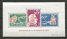 French Polynesia 1968 - Souvenir Sheet #1 MNH ** Bicentennial of the disc...(2)