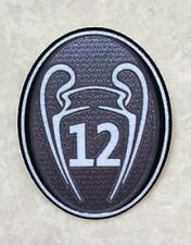 2017/2018 UEFA Champions League Grey Trophy 12 Cup Patch Badge For Real Madrid