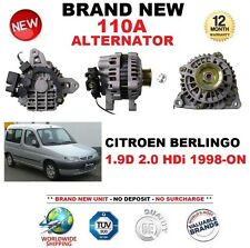 FOR CITROEN BERLINGO 1.9D 2.0 HDi 1998-ON NEW 110A ALTERNATOR ** OE QUALITY **