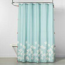 Opalhouse Fabric Shower Curtain Aqua Floral 72 in x 72 in