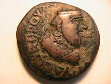 40-5 BC Gondophares Indo-Parthian Choice VF Bold Strike & Portrait Bronze Coin