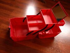 Vintage 90's Sassaby Red Multi-Level Make-Up / Craft Case - Pageants & Dance