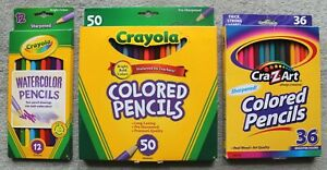 Crayola & Cra-Z-Art Watercolor/Colored Pencils 97 Total New In Boxes
