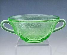 Hazel Atlas Green Royal Lace Cream Soup Bowl