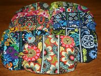 Vera Bradley LARGE COSMETIC case travel bag makeup purse pouch 4 tote backpack