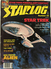 STARLOG #25 August 1979 Star Trek TMP Alien The Thing Ray Bradbury