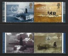 Grande-Bretagne 2001 sous-Marin Perforation Variété Ensemble 4 Fin
