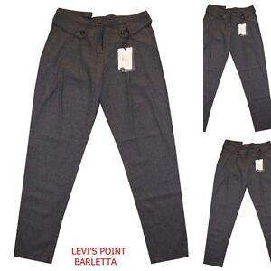 Pantalone donna elegante con pence a twill grigio elasticizzato taglia 42 46