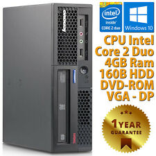 PC COMPUTER DESKTOP RICONDIZIONATO LENOVO DUAL CORE RAM 4GB HDD 160GB WINDOWS 10