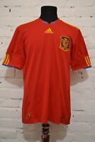 SPAIN HOME FOOTBALL SHIRT 2010/2011 SOCCER JERSEY CAMISETA MENS L ADIDAS