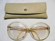 b25bf713292 Big Lens Eyeglass Frames-Flesh-Liz Claiborne LC-23 RO 14-Vtg