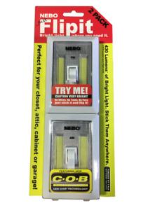 Nebo FlipIt LED Light with Switch, 2 pack, 215 Lumens each, Model 6523